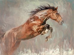 Jumping Horse I by Mark Spain -  sized 32x24 inches. Available from Whitewall Galleries